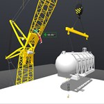 Virtual crane operation plan