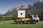 Video truck-mounted concrete pumps