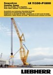 Technical Data - Crawler crane LR 11350-P1800 [m/t]