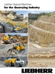 Liebherr special machines for the quarrying industry