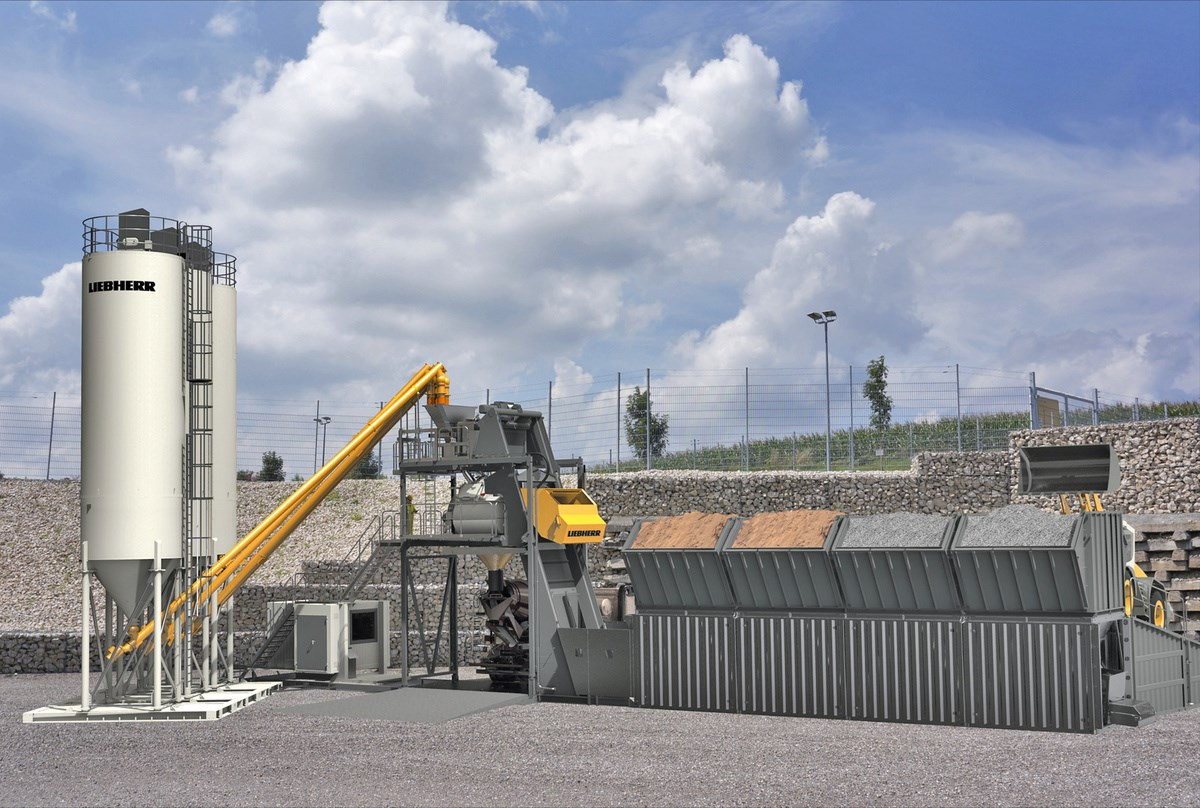 Cement Loading Plant : Mobilmix f mobile mixing plant liebherr