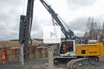Video: Liebherr piling rig LRH 100 with special leader kinematics