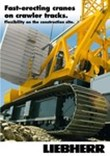 Brochure: Fast-erecting cranes on crawler tracks. Flexibility on the construction site.