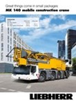 Brochure: Great things come in small packages. MK 140 mobile construction crane