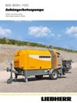 Data sheet for trailer concrete pump 80D-80DH-110D