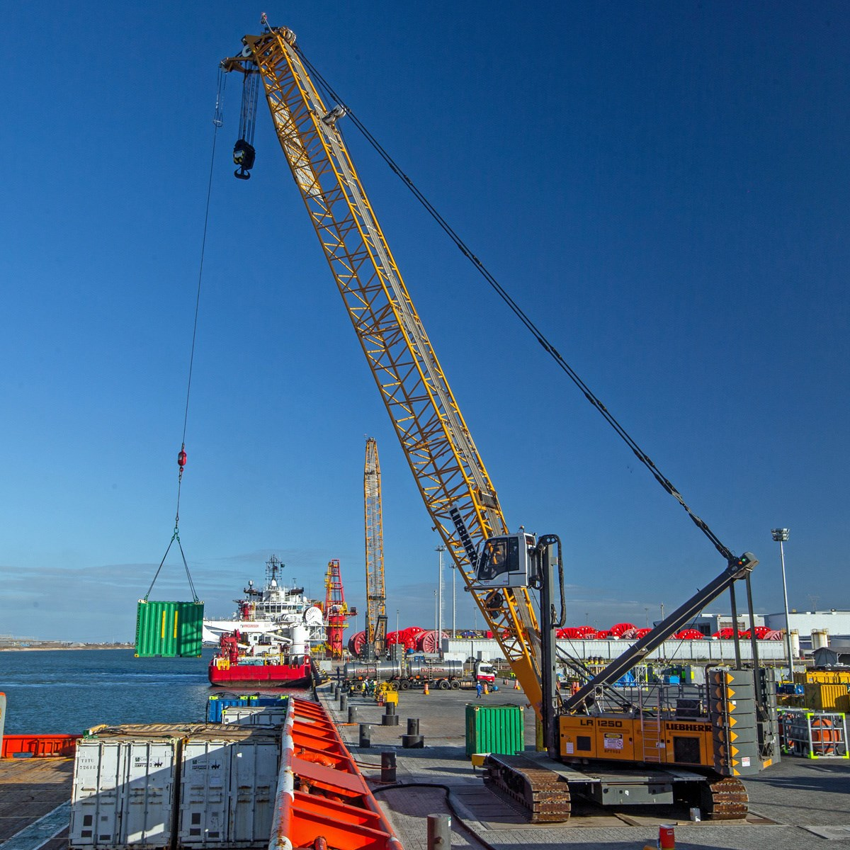 Lr 1250 crawler crane liebherr for The crain