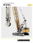 Technical data – HS 8100 duty cycle crawler crane