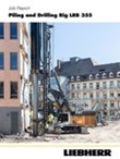 Job report LRB 355 piling and drilling double rotary drilling in Frankfurt