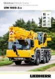 Technical Data - Mobile crane LTM 1055-3.2 [m/t]