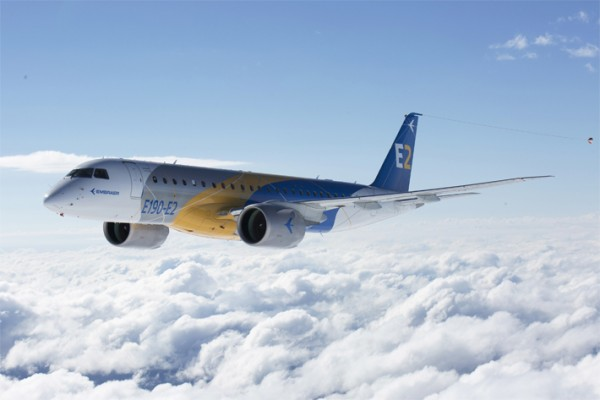 Embraer's new E-Jet E2 - Photo: Embraer