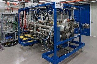 Electrical air conditioning pack test rig at Liebherr-Aerospace in Toulouse (France)