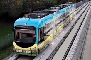 Light-rail vehicle with charging system PRIMOVE® by Bombardier - Photo Bombardier