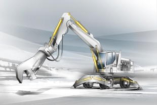 Exemplary application: hydraulic excavator