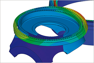 FEM calculation model for large diameter bearings