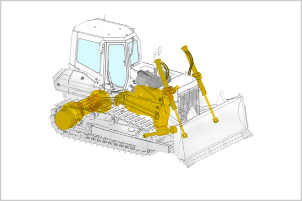 For crawler tractors, Liebherr offers diesel engines, hydraulic components, gearboxes and splitter boxes as well as hydraulic cylinders in the Reman Program.