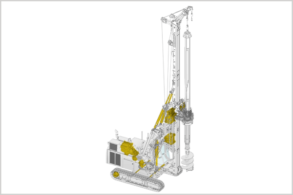 For deep foundation equipment, Liebherr offers an overhaul and repair service for diesel engines, drive systems, swivelling drive units, splitter boxes, rope winches and hydraulic components.
