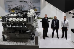 Liebherr is showcasing its D9812 mining engine on Electra Mining Africa 2018 in Johannesburg