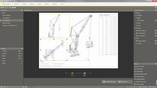 Crane planner 2 0 jobsite planning software for lattice for Construction site plan software