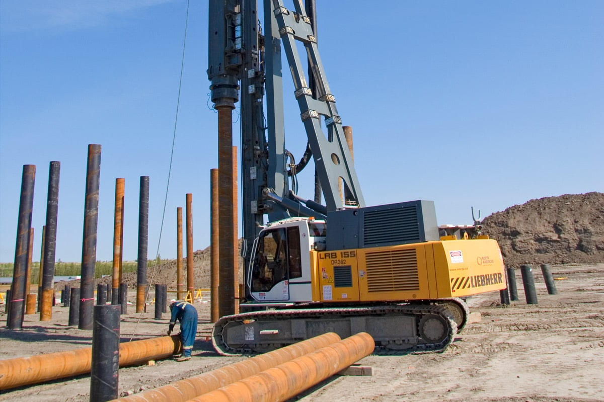 Impact Driving Piling Methods For Deep Foundation Liebherr