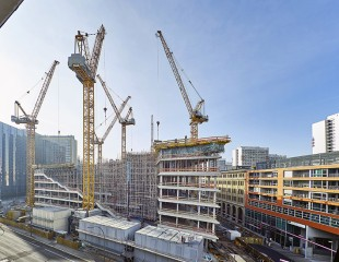 Six luffing jib cranes from Liebherr's own used and rental crane centre.