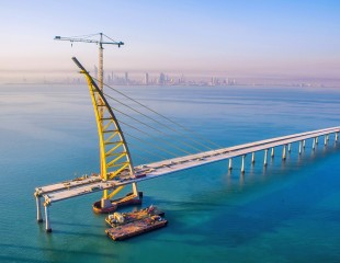 A striking bridge in Kuwait