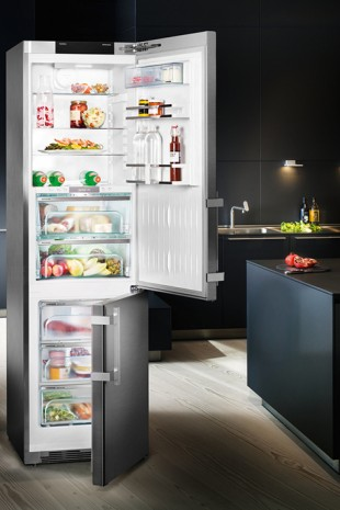 The smart refrigerator can be controlled directly from a tablet or smart phone