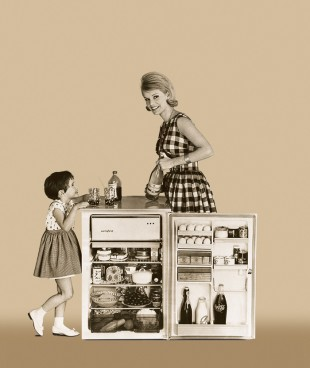 1955: Advertisement for a Liebherr refrigerator