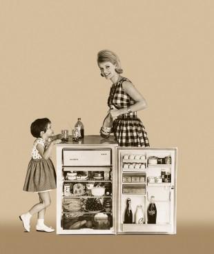 1955: Advertisement for a Liebherr refrigerator