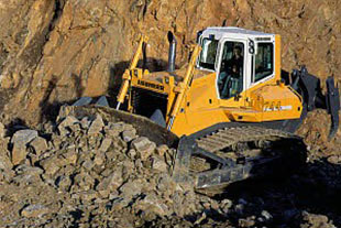 Dozer produced by Liebherr in Algeria
