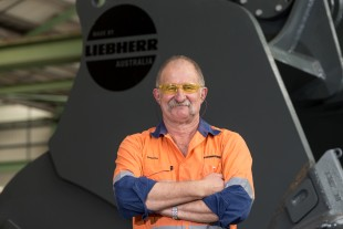 Graham Newbery, from the Liebherr-Australia Pty. Ltd. production department