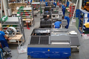 Assembly of air conditioning systems at Liebherr Transportation Systems Marica EOOD