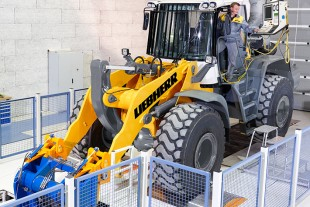 Quality assurance with the wheel loader chassis dynamometer.
