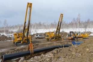 RL 64 pipe layer from Telfs during pipeline construction in Russia