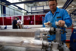 Production of heat exchangers at the plant in Toulouse (France)