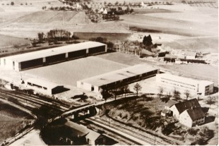 Liebherr-Mischtechnik GmbH at its construction in 1954