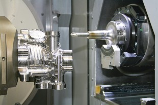 Machining a titanium housing in the titanium machining center