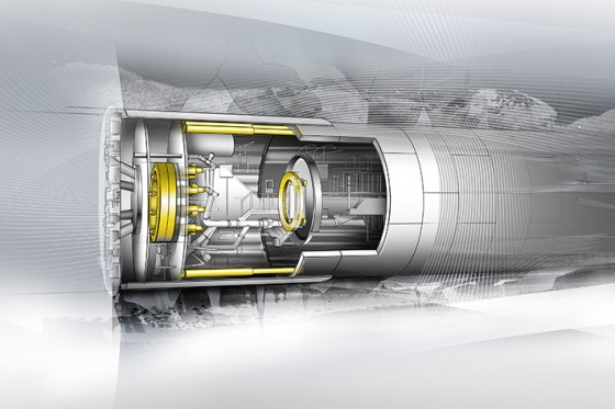 Liebherr components for tunnel boring machines.