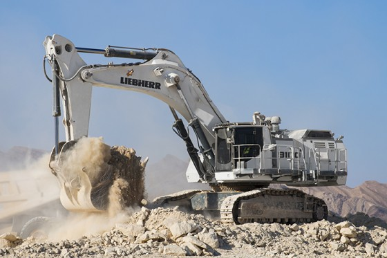 The new mining excavator Liebherr R 9100 B had its first public appearance at Bauma China 2018.