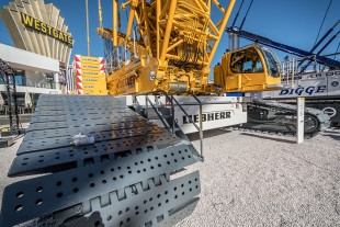 The LR 1500 is Liebherr's heaviest machine at Conexpo-Con/Agg