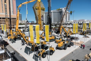 Liebherr is showcasing 25 exhibits in its Conexpo-Con/Agg outdoor booth.