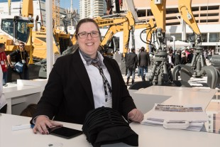 HR Manager Vicki Wishon is one of the Liebherr faces at the outdoor booth's Career Point