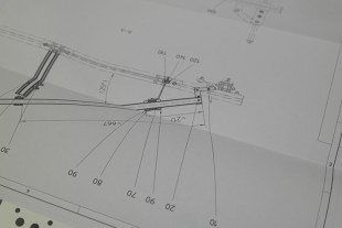 Using these design drawings, the student teams put together the framework for their soapboxes.