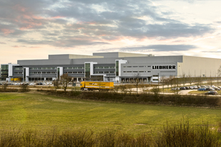 The new Liebherr logistics center in southern Germany