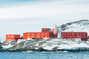 The polar research station GARS O'Higgins in Antarctica.