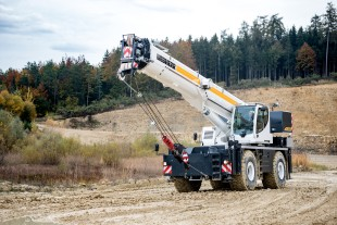 The Liebherr rough-terrain cranes are designed for high capacity and safety.