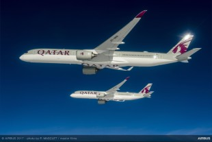 Qatar Airways has received the first A350-1000.
