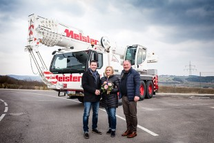 From left to right: Joachim Sommer (Liebherr-Werk Ehingen GmbH), Claudia Meister, Jens Ochmann (both from Meister GmbH)