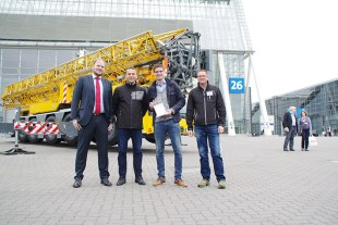 From left to right: Sebastian Sturm, Martin Assfalg, Wolfgang Schlaucher, Jens Walter (all of them Liebherr-Werk Biberach GmbH)