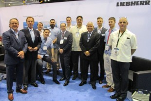 The Liebherr-Team logged over 700 handshakes and 42 miles of walking the exhibition hall over the three-day MRO 2018 event.