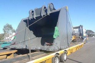 An Adelaide-fabricated R 996 bucket, destined for export to Chile.
